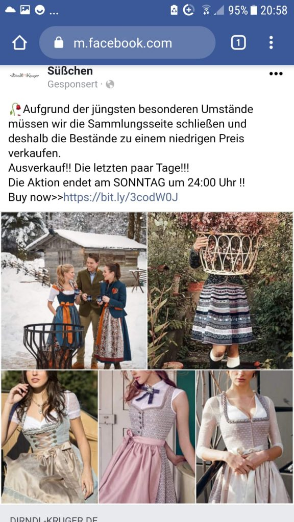 Dirndl Kruger in Facebook
