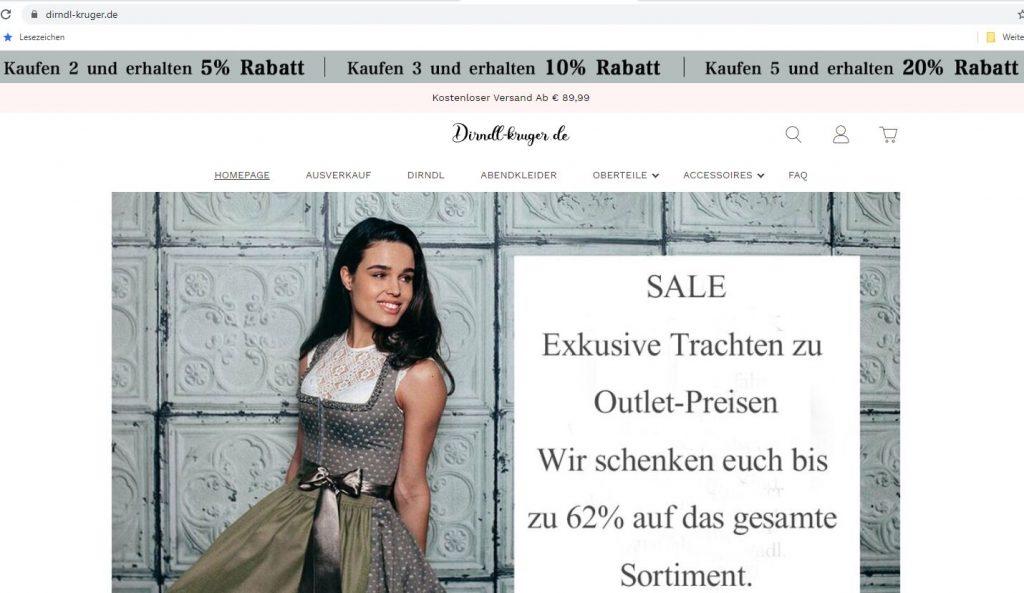 Homepage von dirndl-kruger.de